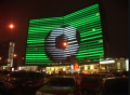 LED media facades to advertise on commercial and residential real estate RGB