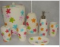 Colorful and Lovely Polyresin Bath Accessories Set