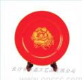 中国红纪念盘