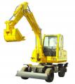 Hydraulic long arm wheel excavator