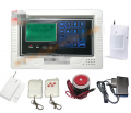 LCD touch screen GSM alarm system wireless and wired intercom(ZC-GSM014)