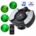 Disco Laser Player Music Player Party Stage Lightings with Remote Control, Support TF Card