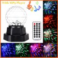 Auto Voice-activated Mini LED Crystal Magic Ball Light Effect Rechargeable Stage Lighting with MP3 Player Party DJ