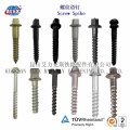 Railway screw spikes