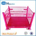 F-4 Warehouse mesh folding storage wire container cage
