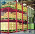 Almacenaje metal del almacén de Nestainer plataforma de sistema de rack de apilamiento