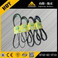 In our stock for PC300-7 belt 6743-62-3710 Komatsu excavator spare parts