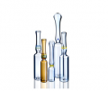 Indian standard, YBB and GMP and ISO standard USP type1 OPC with blue point type B 1ml clear glass ampoule