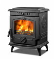 Wood cast iron stove with boiler