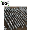Round shaft helical pile