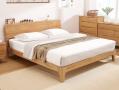 日式白橡木双人床