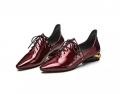 Женская обувь Балетные тарелки Низкорежущие лодыжки Черные и красные носки