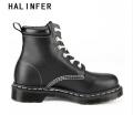 HALINFER martin bottes pour la mode masculine en cuir véritable 9 couleur travail sécurité bottines fait main masculine plateforme