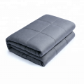 China wholesale professional super soft blankets customized sensory cheap cotton 15lbs weighted blanket for adult and kids