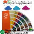 RAL de Color Pantone Color Epxy poliéster híbrido capa del polvo