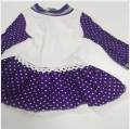 2019 new design purple polka dot dress for 18 inch vinyl doll clothes