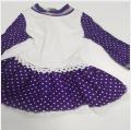 2019 new design purple polka dot dress for 18 inch vinyl doll clothes