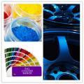 Electrostatic thermosetting spray epoxy polyester powder coating for wheels