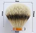 Factory Price Bulb Shape Extra Dense Good Backbone Silvertip Badger Hair Shaving Brush Knots