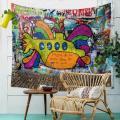 Bunte Öl Malerei Graffiti Muster Wand Tuch hängenden Tagesdecke abstrakten Malerei Strand Handtuch Yoga Picknick Matte Wandteppich