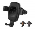 M6 Qi Quick Wireless Car Charger Pad wireless car holder Mount Supplier With Bluetooth Earphone Gravity and Linkage design Support 7.5W/10W Fast Charge