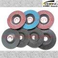 Flap disc backings in fiber