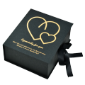 Custom collapsible GIFT box black paper box with custom printing