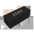 Custom blak rollover lid box rectangular shape