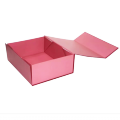Pink color collapsible paper box  with magnetic
