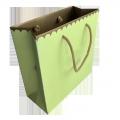 Custom printing avocado color biodegradable paper bag chocolate packaging