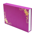 Customized book shaped  paper box gift package for cosmetics