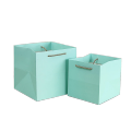 Different size Square shaped paper cake bag with twisted rope