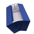 Royal blue rigid Cardboard luxury Packaging Clam shell paper Box For spirits and wine