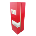 RED rectangular packaging paper box with lid and magnetic boxes for wine