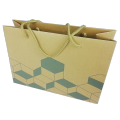 Custom Recyclable biodegradable Brown Kraft Paper Bags With twisted Rope Handle
