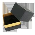 Square shape embossed Black rigid luxury paper box for perfume packaging