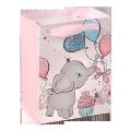 Custom printing elephant decorative gift bag for kids clothing packaging
