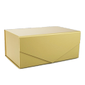 Custom gold foil luxury folding bespoke boxes with magnetic