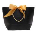 Custom printing Luxury jewelry packaging bag with ribbon and bow
