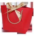 Custom printing Luxury round corner hand bag for cosmetics