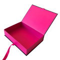 Luxury  black and pink square shape False Nail Packaging cosmetic box wholesale
