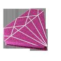 Custom different glittering paper eyelashes package box diamond shape