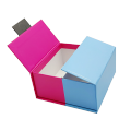 Custom fashion recycle purple & blue Cardboard Paper Packaging Box for Medical Devices
