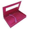 Custom different glittering paper boxes for packaging eyelashes display with PVC window