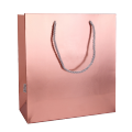 Customized printing Luxury fancy paper shopping bag with twisted handle