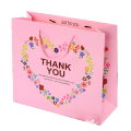 Custom pink color shopping paper bag for kids toy store packaging