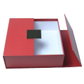 Luxury red and black fancy paper  rigid  cardboard gift box for retailer with two doors