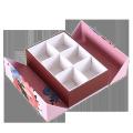 Custom Hand-drawn illustration design fashion gift packaging box for chocolate