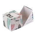 Custom design FCS small paper box for tea bag packaging square box with flip