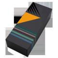 Custom logo designed  rectangular shape folder paper box spot UV coating socks packaging